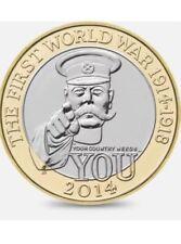 2014 £2 WORLD WAR I CENTENARY 100YRS TWO POUND GREAT BRITISH COIN HUNT RARE