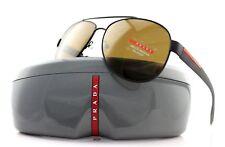 RARE POLARIZED New Genuine PRADA Sport Aviator Brown Sunglasses SPS 55Q UEA-5Y1