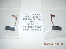 2 OEM REPLACEMENT CARBON BRUSHES FOR DEWALT N097696 DWE4011,DWE4120 AND DWE4120N