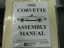 1965 CORVETTE (ALL MODELS) ASSEMBLY MANUAL