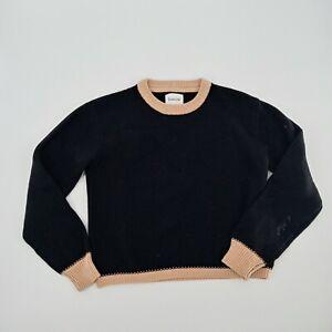 Women's KOWTOW Black Beige Cropped Sweater Size XS