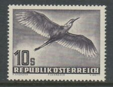 More details for austria - 1950, 10s, purple, grey heron bird stamp - mnh - sg 1220