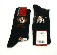 Jack Russell Dog Design Men's Cotton Socks Black Vet Agility Dad Pet Gift NEW