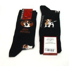Jack Russell Dog Design Men's Cotton Socks Black Vet Agility Dad Pet Gift NEW