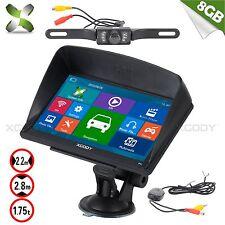"""XGODY 7"""" Voiture Camion GPS Navi+Sans fil caméra de marche arrière Bluetooth 8Go"""