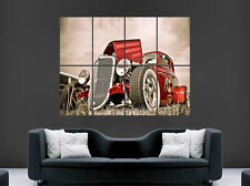 Red Hot Rod Auto Poster Classic USA ENORME GRANDE Wall Art Poster