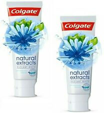 X2 Colgate Radiant White Natural Extracts Toothpaste With Seaweed & Salt  75ml