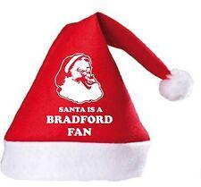 Santa is a Bradford Fan Christmas Hat.Secret Santa Gift