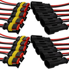 1* 2 Pin Way Car Boat Sealed Waterproof Electrical Wire Connector Plug Terminal