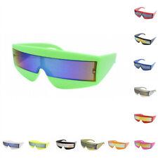 80s Visor Wrap Around Sunglasses Robot/Cyclops/Lady Gaga/Daft Punk/Neon Glasses