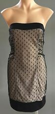 NEW with Tags Black & Nude Strapless EMBELLISHED Mini Dress Size M (10)