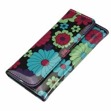 Señoras estilo retro cobarde Flower Power Billetera clutch Cartera Plegable-De Señoras