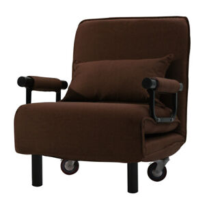 Folding Sofa Bed Recliner Chair Bed Single Sleeper Couch Lounge Guest Bed+Pillow