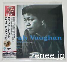 Sarah Vaughan with Clifford Brown +1 JAPAN CD Mini LP w/OBI UCCU-9516 -GOLD DISC