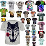 Women Men 3D Printing Multiple Animal Patterns T-Shirt Short Top Tees