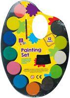 14pc 27.9cm Palette Acquerello Pittura Gioco Set Bambini 12 Assortito Creativo