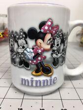 Disney Parks 3D Shy Minnie Mouse Walt Disney World Ceramic 12 oz Coffee Mug