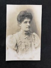 Vintage BW Real Photo #CB: Edwardian Lady