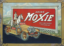 """DRINK MOXIE"" ADVERTISING METAL SIGN"