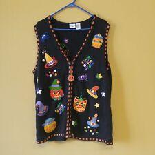 Carolina Colours Halloween Knit Vest Women's Size 18