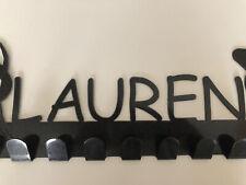 Lauren Gymnastics Medal Hanger- Powdercoated Metal Holder Bars w/ 8 Hooks