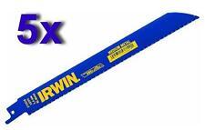 """5 x IRWIN 372818 203mm (8"""") 18 tpi METAL CUTTING RECIPROCATING SAW BLADES"""