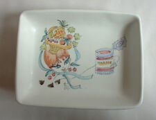 1950s vintage Italy ceramic ART LADY GIRL DISH B pottery Eames mid century