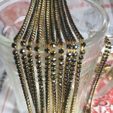 SS8 (2.5mm) Crystal Rhinestone Close Chain Trim Sewing Craft DIY Crystal Chain H