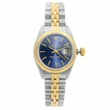 Rolex Datejust 26mm Gold Steel Blue Dial Automatic Ladies Watch 69173