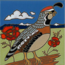 Ceramic Tile Quail Bird wall decor hot plate backsplash installation mural