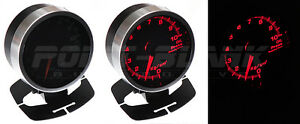60mm Electronic Water Temperature Gauge - Red Backlit Defi/JDM Style