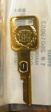 NOS Cadillac Gold Key - #2 VATS - Ignition key for Brougham, Fleetwd, Sev/Eldo