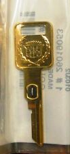 Rare Cadillac Gold Key - #3 VATS Ignition key for Brougham, Fltwd, Eldo, & Sev