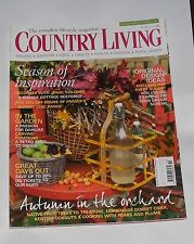 COUNTRY LIVING OCTOBER 2011 - AUTUMN IN THE ORCHARD/SEASON OF INSPIRATION