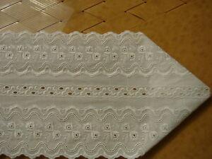 Tischband (TB 302130) weiße Baumwollspitze z.i.Gest.
