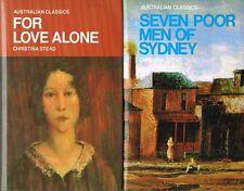 For Love Alone, Seven Poor Men of Sydney; Christina Stead. Australian Classics