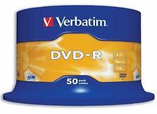 Verbatim 43548 4.7GB 16x DVD-R Matt Silver Recordable Disc - 50 Pack Spindle