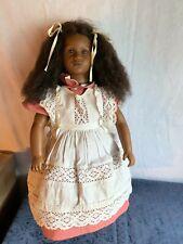 Annette Himstedt Fatou Doll #3809 the Barefoot Children Series w box & Coa Mint