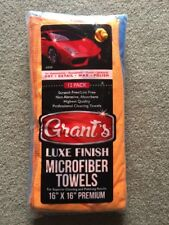 """12 Pack of Grant's Microfiber Cloth Towels 16"""" x 16""""   Premium Luxe Finish"""
