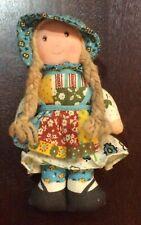Vintage Small Holly Hobbie rag doll Knickerbocker