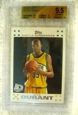 Kevin Durant RC 2007-08 Topps Variant White Rookie Gem Min BGS 9.5! Warriors RC