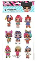 LOL Surprise Doll Characters - 3D Puffy Scrapbook Craft Sticker Embellishment