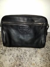 Coach Purse Clutch Bag Vintage Black 5068 Toiletry Tablet Cosmetic Travel
