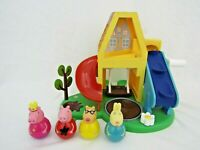 Peppa Pig Weebles house playset & 4 figures vgc P1