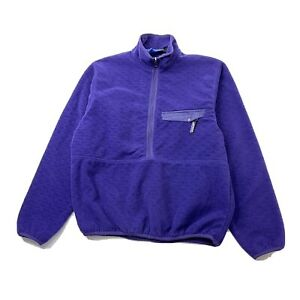 Patagonia Vintage USA Purple 1/2 Zip Snap Pocket Pullover Jacket Men's Medium