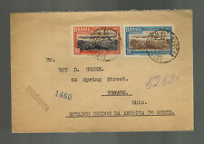 1937 Bancos Brazil Registered cover to Newark OH USA Commercial Bank of Sao Paul