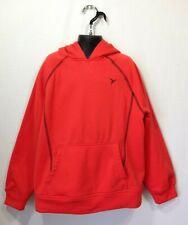 Old Navy Active Hoodie Boys Medium (8) Orange Long Sleeve Hooded Sweatshirt
