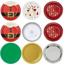 Decoración y menaje platos de papel de navidad para mesas de fiesta