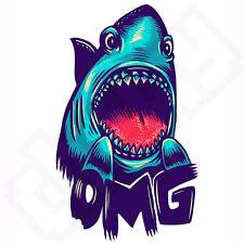 OMG Shark Street Art Skate pegatina Laptop teléfono Guitarra Funda De Libros Escolares