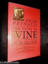 Taste of Wine: Art and Science of Wine Appreciation by Emile Peynaud - 1987-1st